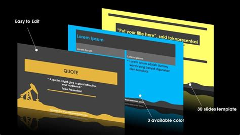 AB006 Free Powerpoint Template Oil Industry