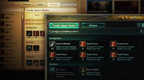 Customize your build with in-client item sets   League of