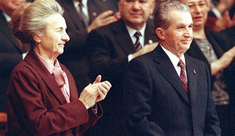 Romanian government leader Nicolae Ceausescu receives