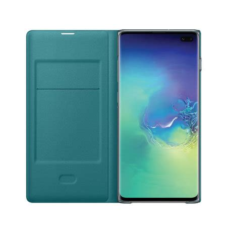 Official Samsung Galaxy S10 Plus LED View Cover Case - Green