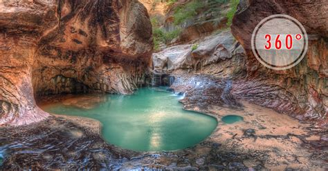 Zion National Park The Subway 3D Panorama