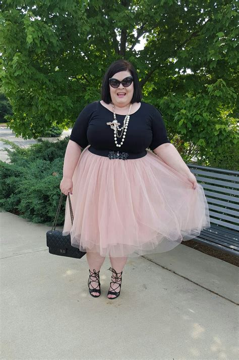TheStyleSupreme: Plus Size OOTD: Pink Tulle Skirt and Lace
