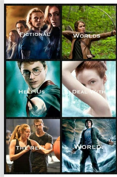 The Mortal Instruments, The Hunger Games, Harry Potter