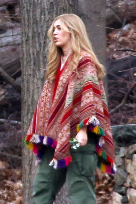MILEY CYRUS on the Set of Woody Allen's Series in