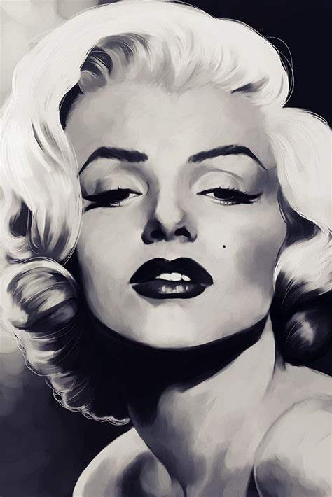 Marilyn Monroe Face Black and WhiteArt Poster – My Hot Posters