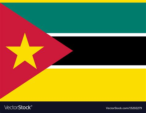 National flag of mozambique Royalty Free Vector Image