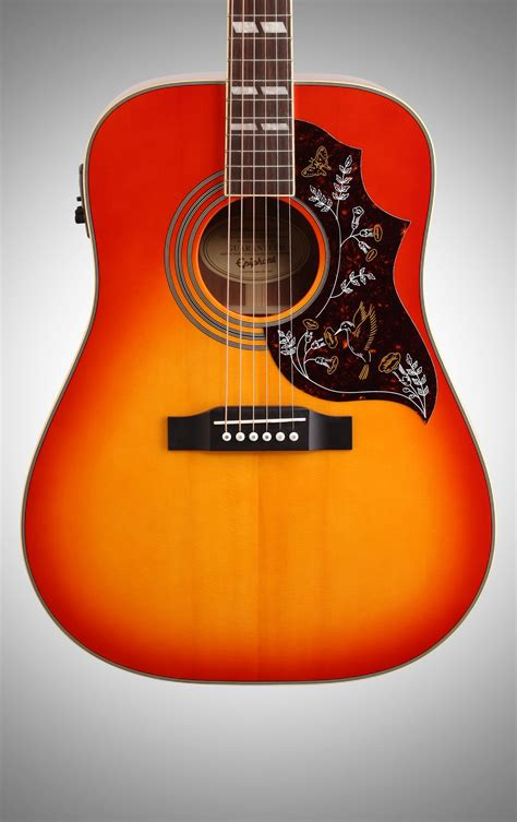 Epiphone Hummingbird PRO Acoustic-Electric Guitar, Faded