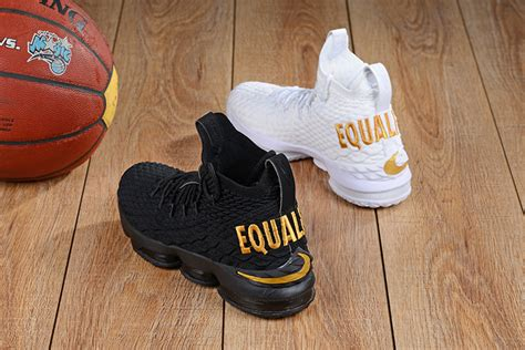 Nike LeBron 15 'Equality' PE Pack White and Black For Sale