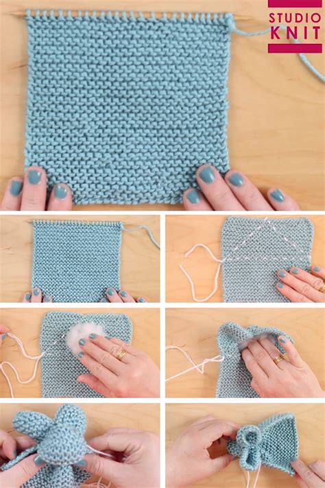 So cute! Knit a Bunny from a Square from an easy knit