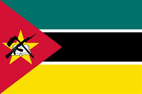 Flag of Mozambique 🇲🇿, image & brief history of the flag