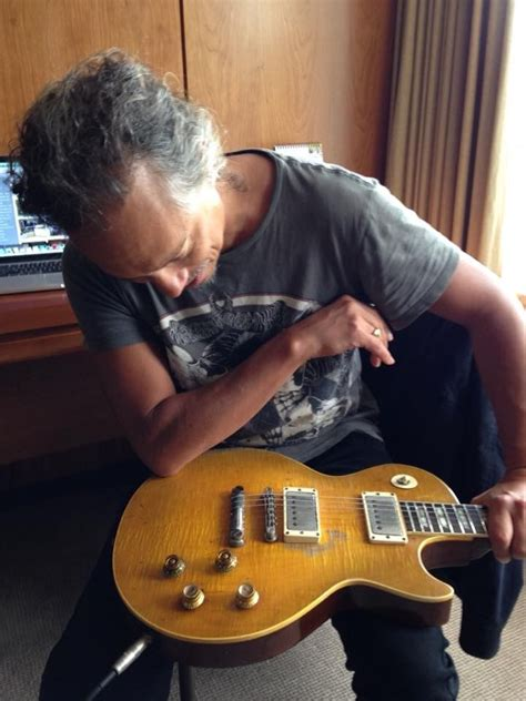 """Kirk Hammett the day he bought """"Greenie"""", the most coveted"""
