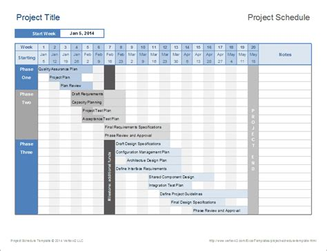 Project Schedule Template Excel – task list templates