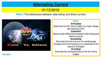 Alternating current | Teaching Resources