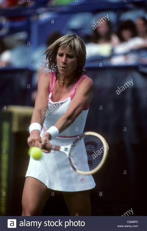 Chris Evert (USA) at the 1980 US Open Tennis Championships