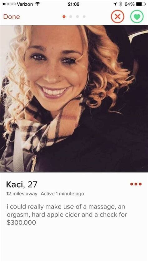13 Girls' Tinder Profiles That Are Hilariously Crude Or